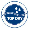 Top-Dry system, which allows the user to feel dry. Single-wrapping for discrete and hygienic use.